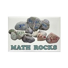 Math Rocks Rectangle Magnet