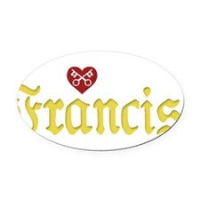 Pope Francis Oval Car Magnet