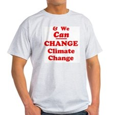 red and we can change climate change Camisetas
