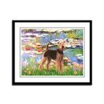 Lilies#2 - Airedale #6 Framed Panel Print