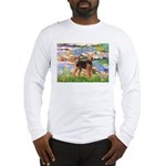 Lilies#2 - Airedale #6 Long Sleeve T-Shirt