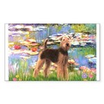 Lilies#2 - Airedale #6 Sticker (Rectangle)