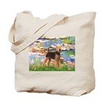 Lilies#2 - Airedale #6 Tote Bag