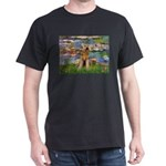 Lilies#2 & Airedale (S) Dark T-Shirt