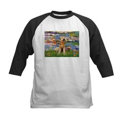 Lilies#2 & Airedale (S) Kids Baseball Jersey