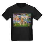 Lilies#2 & Airedale (S) Kids Dark T-Shirt