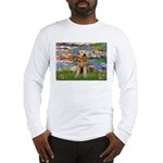 Lilies#2 & Airedale (S) Long Sleeve T-Shirt
