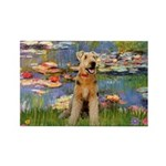 Lilies#2 & Airedale (S) Rectangle Magnet