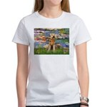 Lilies#2 & Airedale (S) Women's T-Shirt