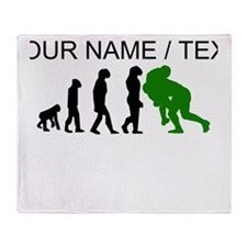 Custom Rugby Tackle Evolution (Green) Throw Blanke
