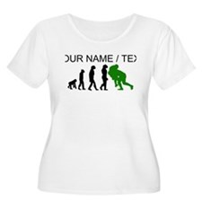 Custom Rugby Tackle Evolution (Green) Plus Size T-