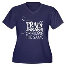 Train INsane Women's Plus Size Dark V-Neck T-Shirt