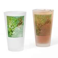 Lily of the Valley Collage Drinking Glass