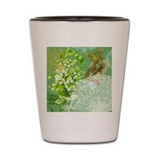 Lily of the Valley Collage Shot Glass