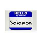 hello my name is solomon Rectangle Magnet