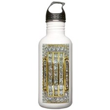 Yellow Gold and Diamon Water Bottle