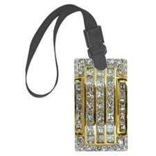Yellow Gold and Diamonds Luggage Tag