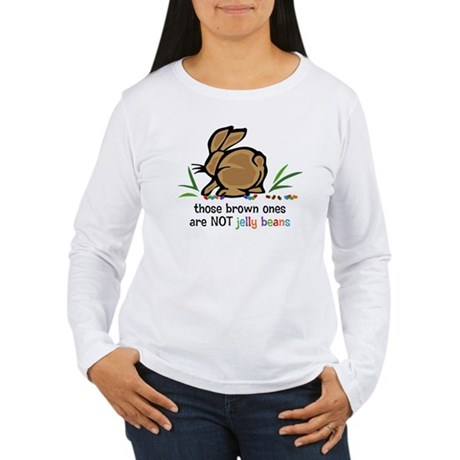 Brown Jelly Beans Women's Long Sleeve T-Shirt
