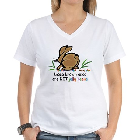 Brown Jelly Beans Women's V-Neck T-Shirt