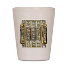 Yellow Gold and Diamond Bling Shot Glass