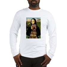 Mona Lisa - Airedale #3 Long Sleeve T-Shirt