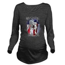 American Bulldog Long Sleeve Maternity T-Shirt