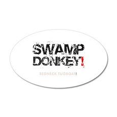 SWAMP DONKEY - REDNECK TUGBO 20x12 Oval Wall Decal
