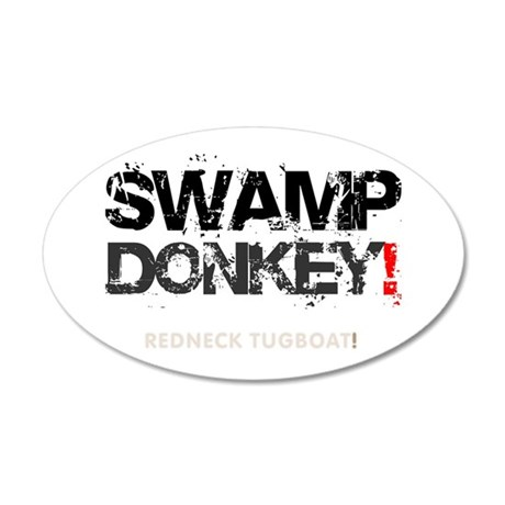 SWAMP DONKEY - REDNECK TUGBO 35x21 Oval Wall Decal