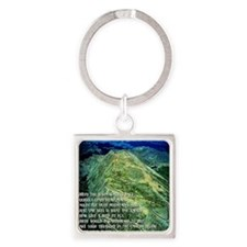 The Highest Road Mt. Evans, CO Square Keychain