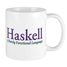 New Haskell logo (with type) mug