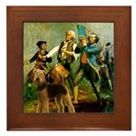 Spirit '76 - Airedale #6 Framed Tile