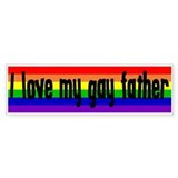 """Gay Father"" Bumper Bumper Sticker"