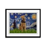 Starry - Airedale #1 Framed Panel Print
