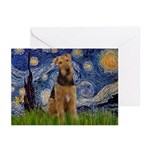Starry - Airedale #1 Greeting Cards (Pk of 10)