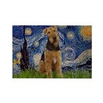 Starry - Airedale #1 Rectangle Magnet