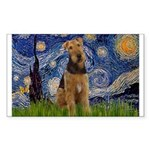 Starry - Airedale #1 Sticker (Rectangle)