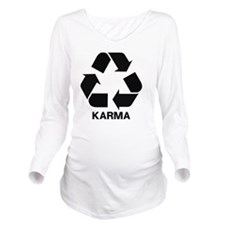 Funny Karma Long Sleeve Maternity T-Shirt