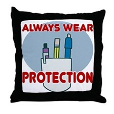 Pocket Protector Throw Pillow