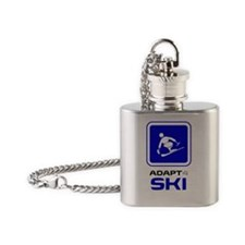 ski_alpine_new_med Flask Necklace