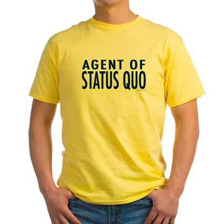Agent of Status Quo Yellow T-Shirt