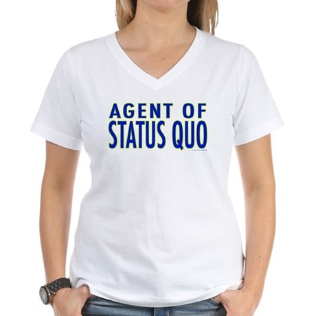 Agent of Status Quo Women's V-Neck T-Shirt