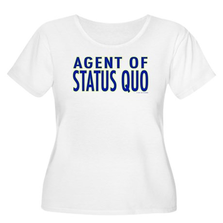 Agent of Status Quo Women's Plus Size Scoop Neck T