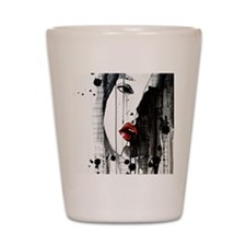Sexy Woman Watercolor Painting Shot Glass