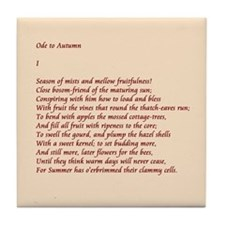 Ode to Autumn Tile Coaster
