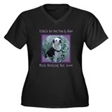 Nothing But Love Women's Plus Size V-Neck Dark T-S