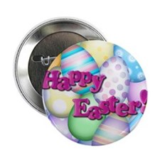 """Happy Easter 2.25"""" Button"""