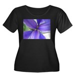 Lavender Iris Women's Plus Size Scoop Neck Dark T-