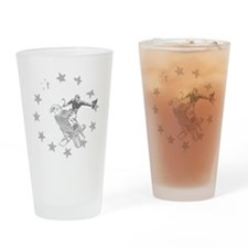 Murica Cowboy and Eagle Drinking Glass