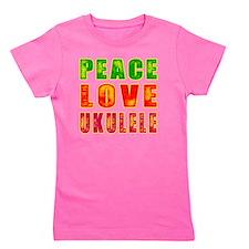 Peace Love Ukulele Girl's Tee