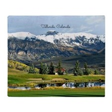 Beautiful Telluride, Colorado Throw Blanket